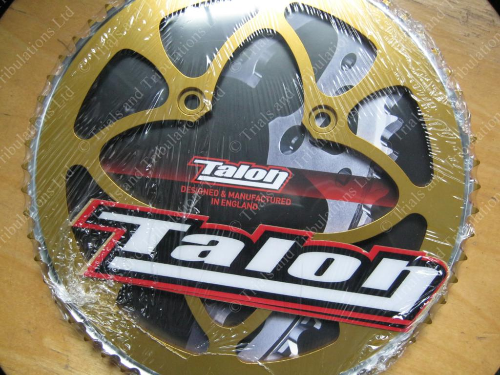 Talon Beta Evo 80 rear sprocket 60t (428 pitch). Gold