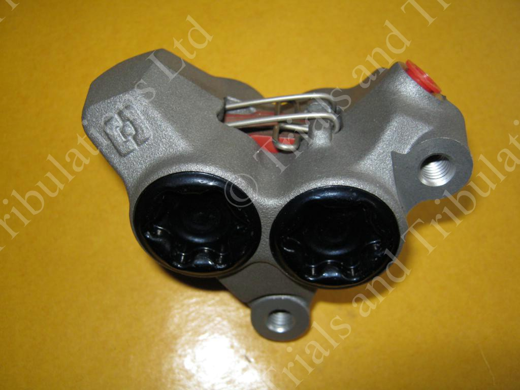 AJP Braktec new style 4 pot front caliper assembly