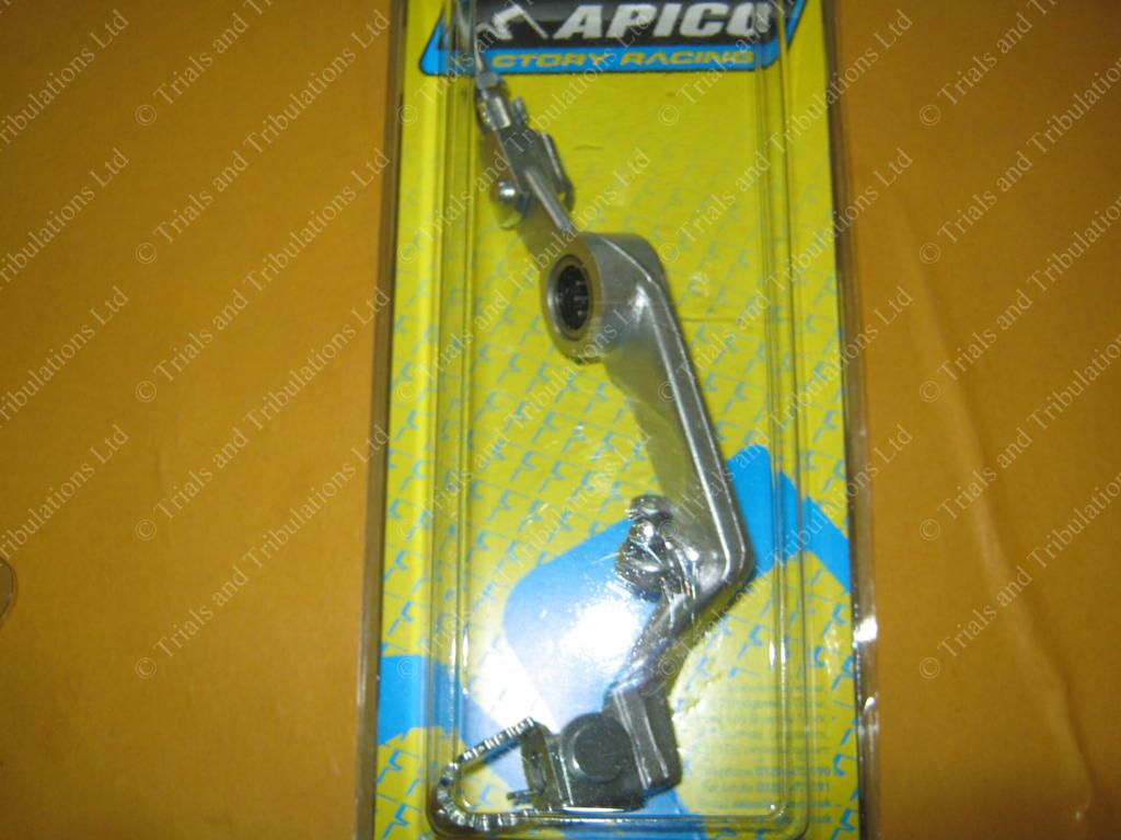 Apico Beta Evo rear brake pedal assembly (silver)