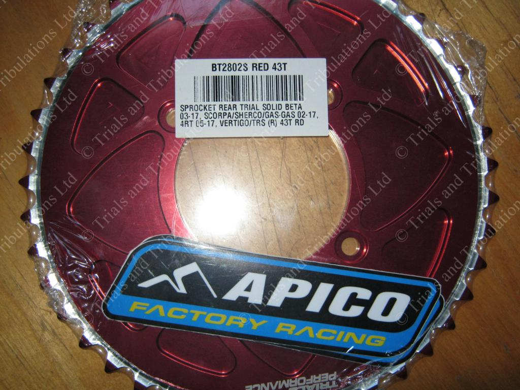 Apico FIM solid rear sprocket 48T Red