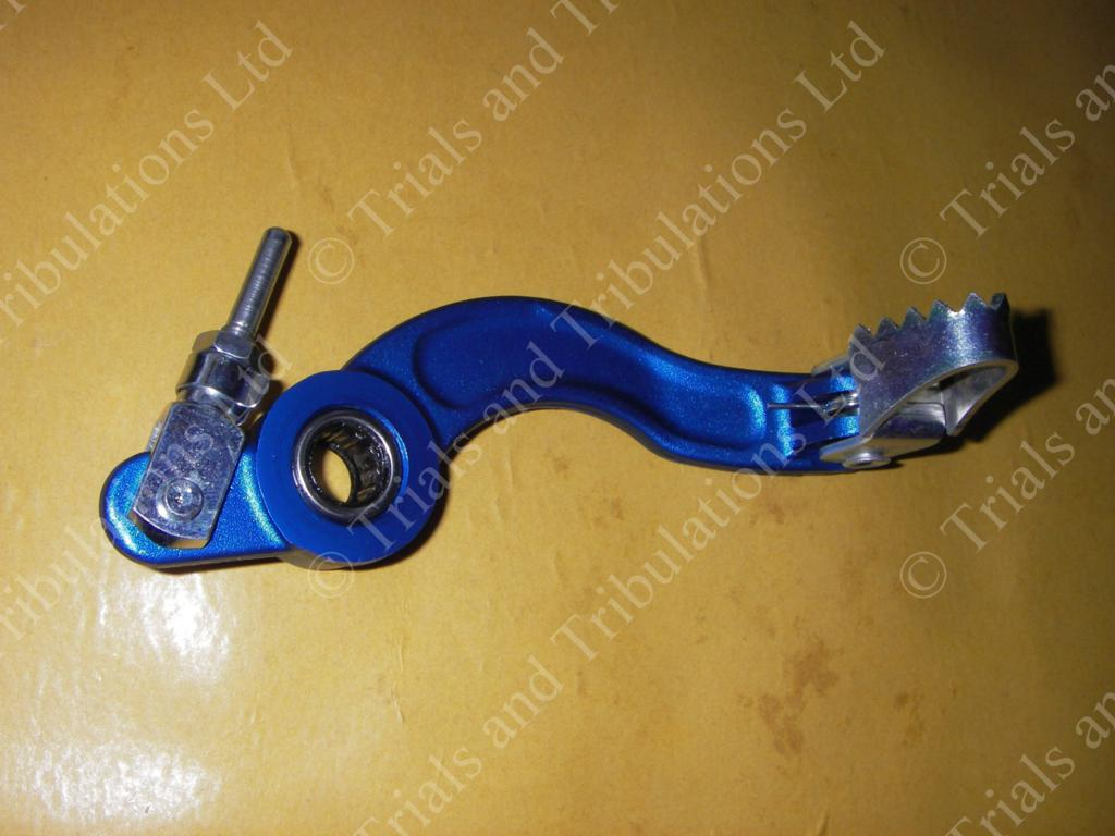 Apico Sherco 00-09 rear brake pedal assembly (blue)