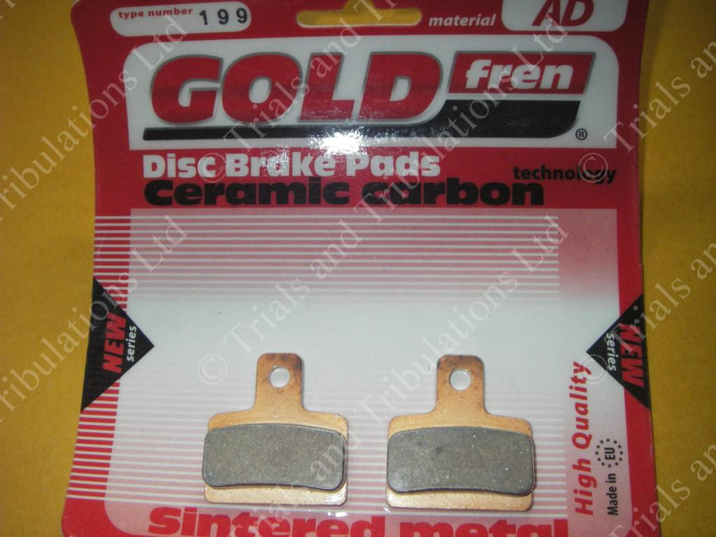 Goldfren 199 (Scorpa SY -to '03 & 4T pads) rear.