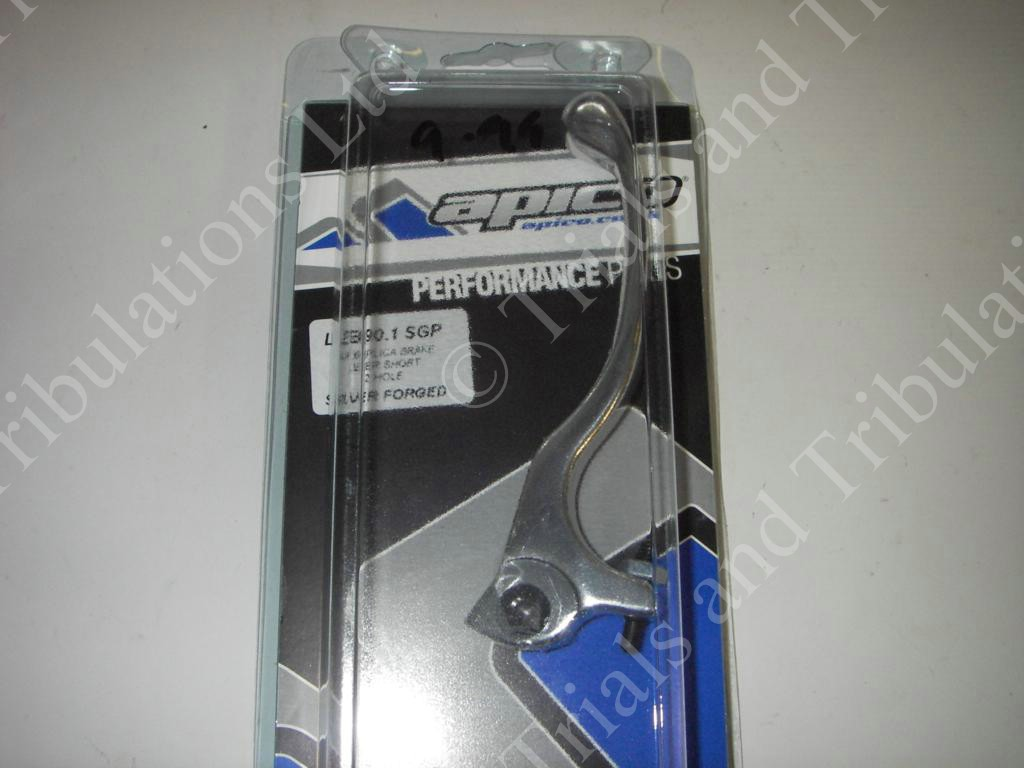 Apico Trials Forged Front brake lever SILVER (short)