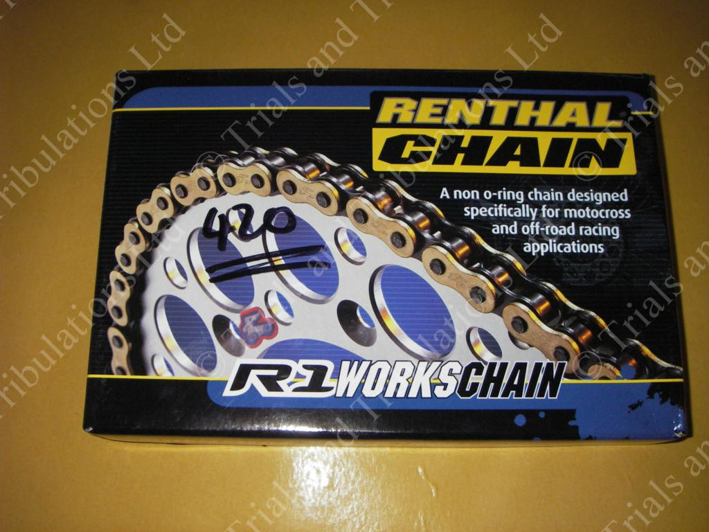 Renthal R1 gold chain 420 pitch (136 link)