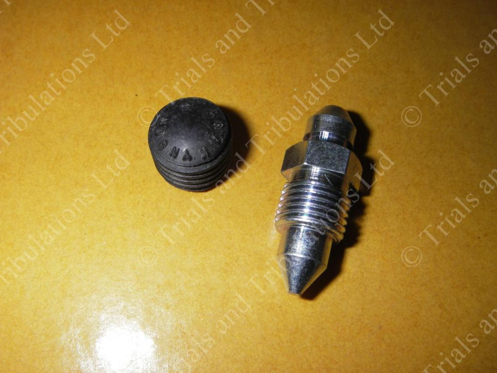 AJP early 2 Pot caliper Bleed Screw & rubber cover