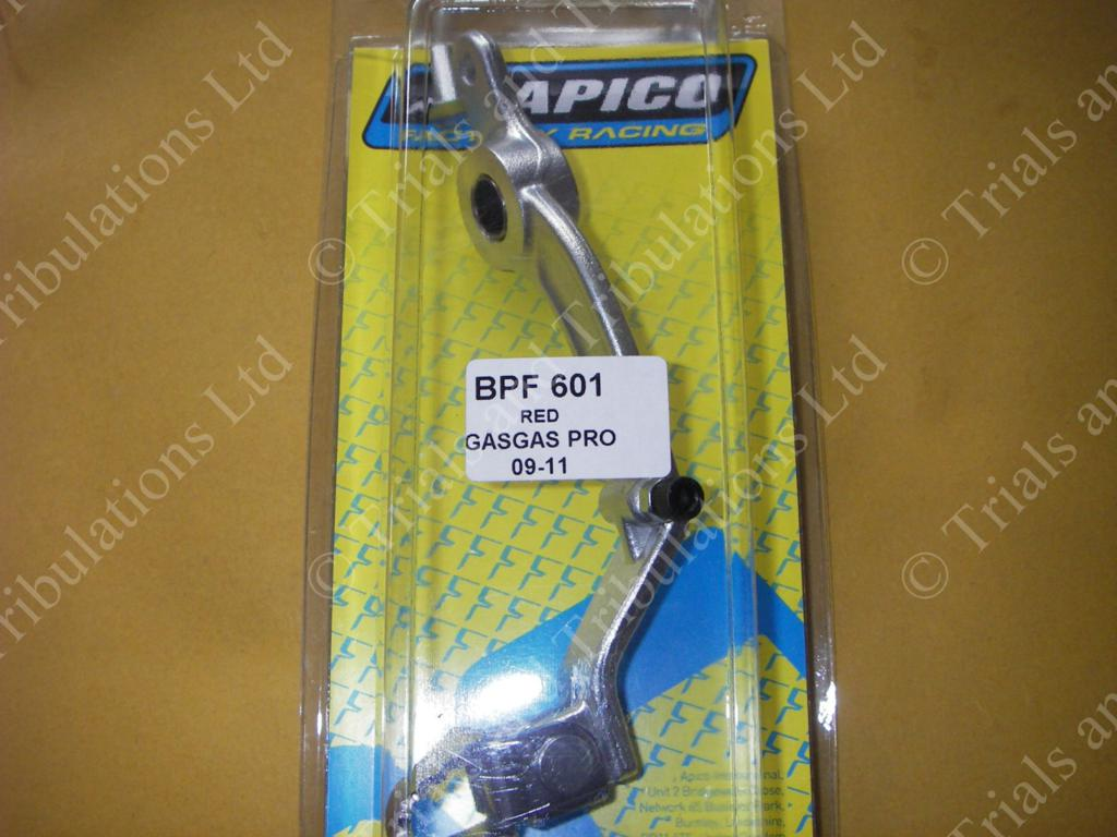 Apico Gas Gas Pro 09-on rear brake pedal (SILVER)