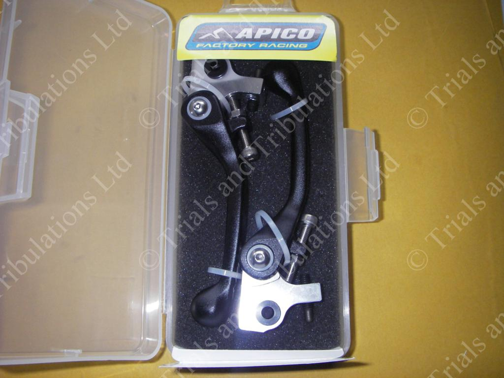 Apico AJP Flexi-levers ( black) Pair