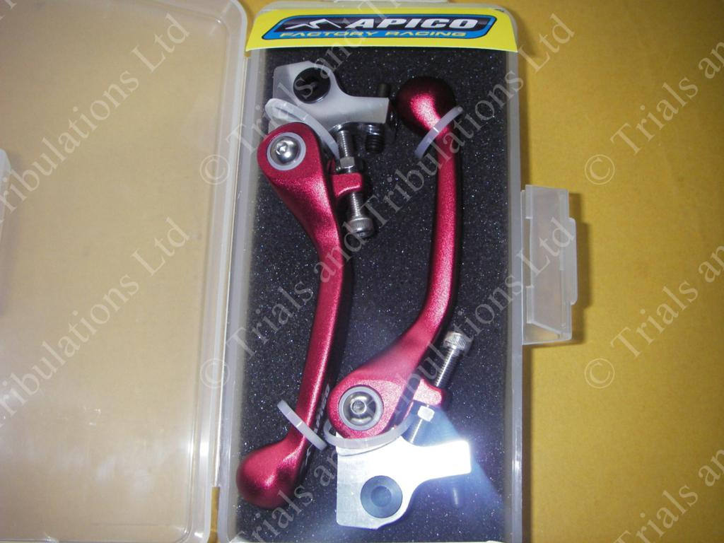 Apico AJP Flexi-levers ( red) Pair