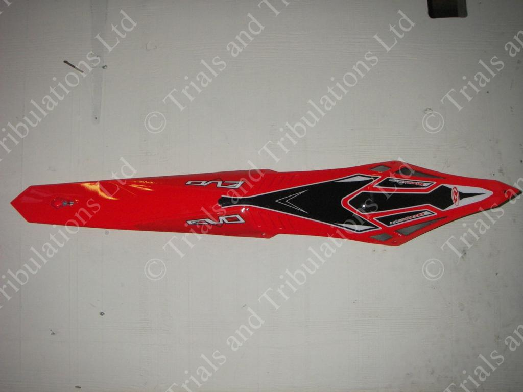 Beta Evo 09 Red rear mudguard