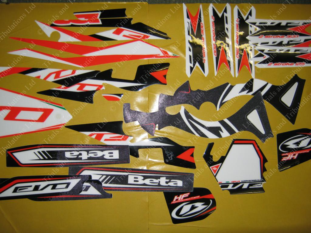 Beta Evo 2014 full frame decal kit
