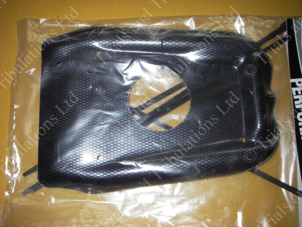 Gas Gas Pro 09-on engine splash guard (carbon look)
