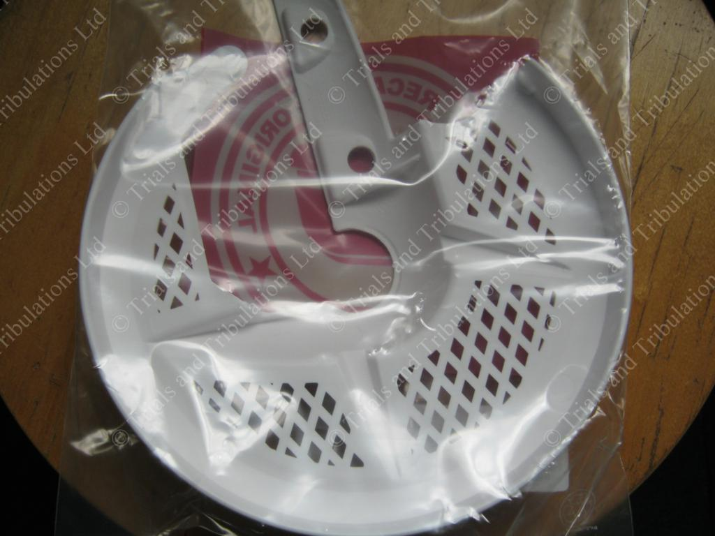 Gas Gas Pro white front disc cover