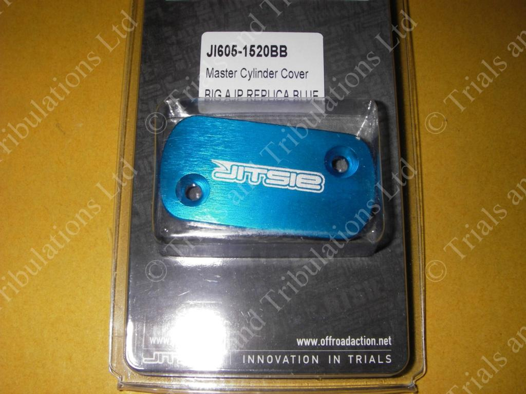 Jitsie (AJP) master cylinder cover large BLUE