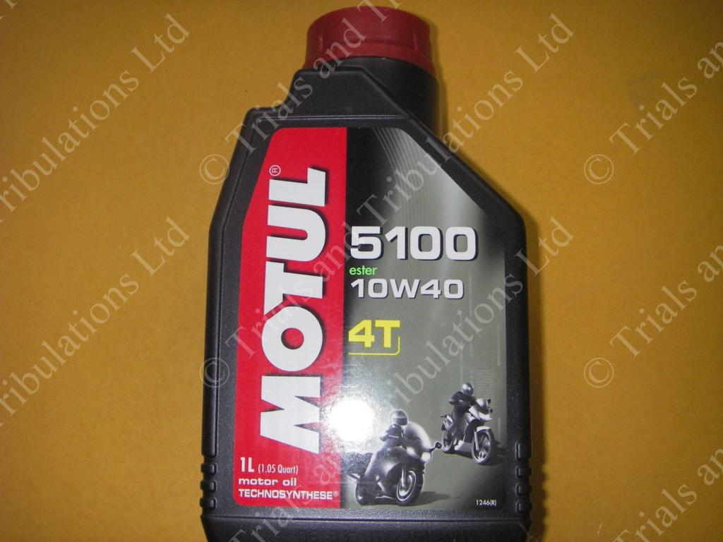 Motul 5100 4T semi synthetic 10w/40 engine/gearbox oil