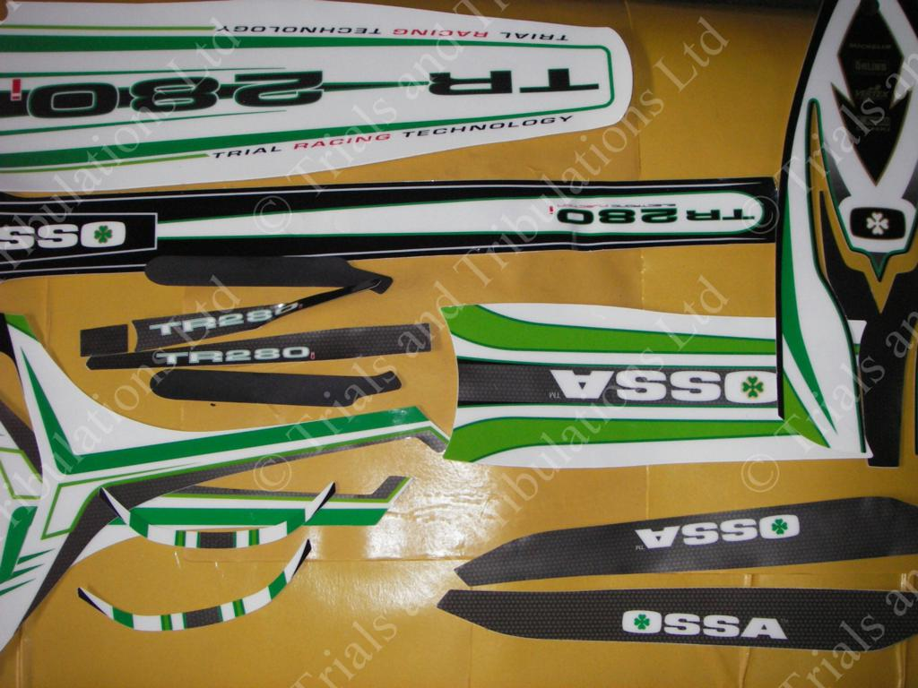 Ossa 280i 2011 complete decal kit