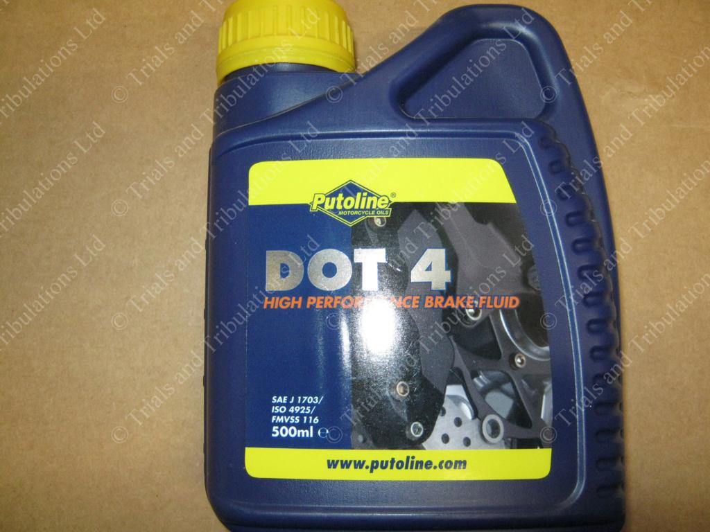 Putoline DOT 4 brake & clutch fluid 500mls