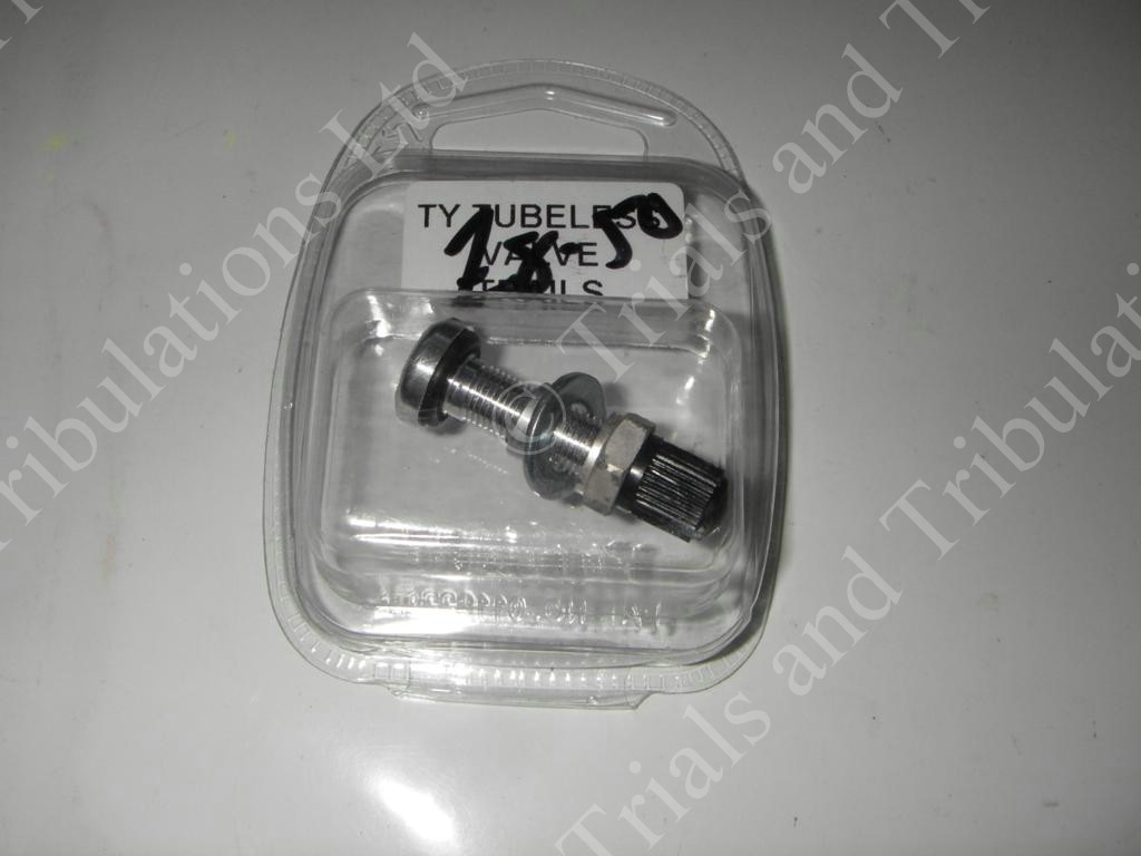 Tubeless valve assembly (bolt through type)